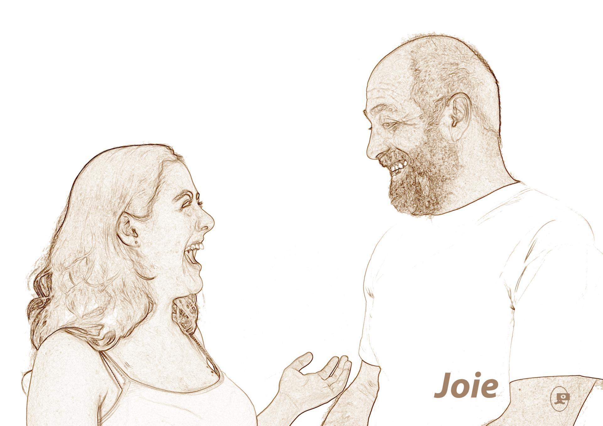 Du rire aux larmes - Joie, de Michel Leveau