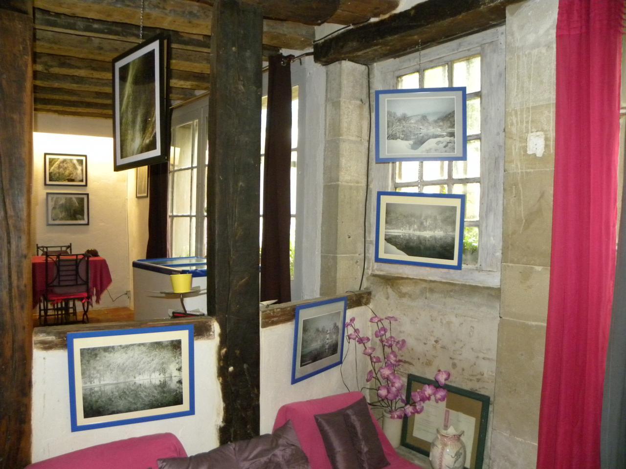 Paysages d'Alain Navarro, au salon de thé La Maison- Fanjeaux