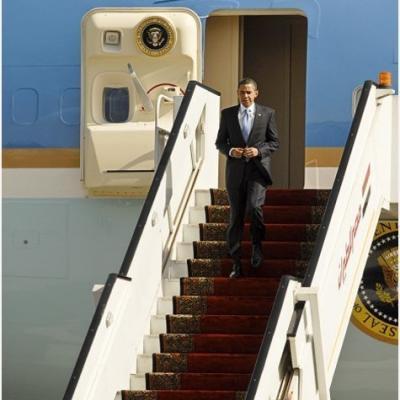 Obama arrivee au caire