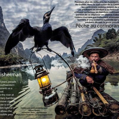 Pêche-au-cormoran - Pedro Luis Ajuriaguerra, à Laurabuc.