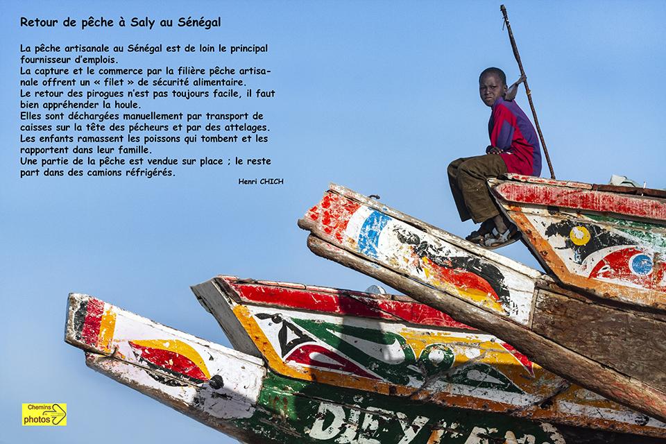 Retour de pêche à Saly, Sénégal - Henri Chich, à Belpech