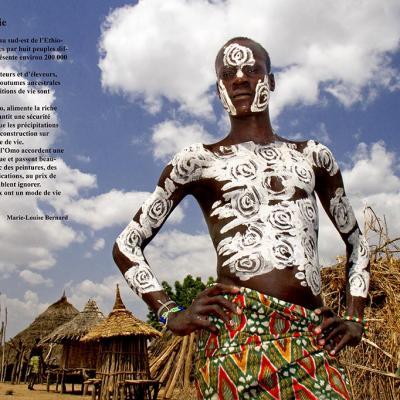 Scènes de vie en Ethiopie - Marie Louise Bernard, à Arzens