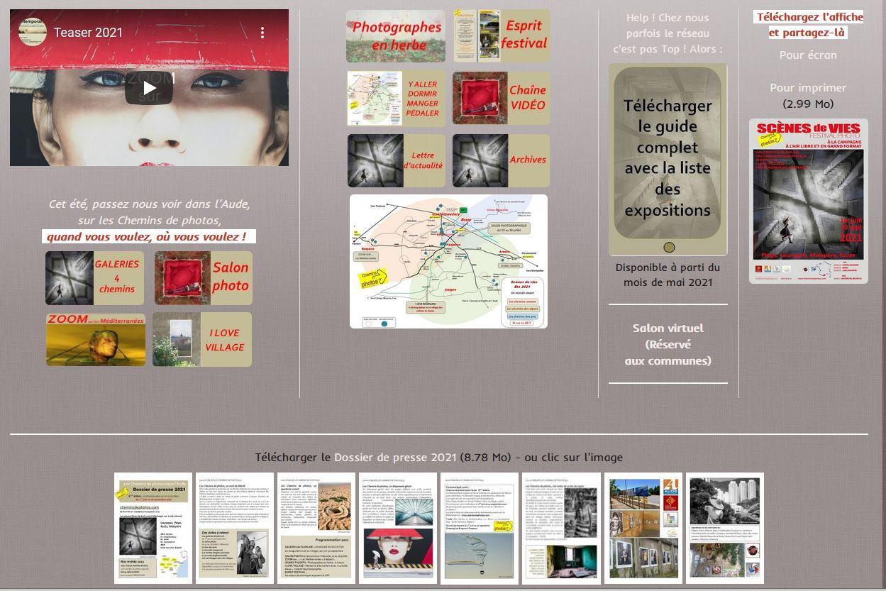 Capture page ouverture site