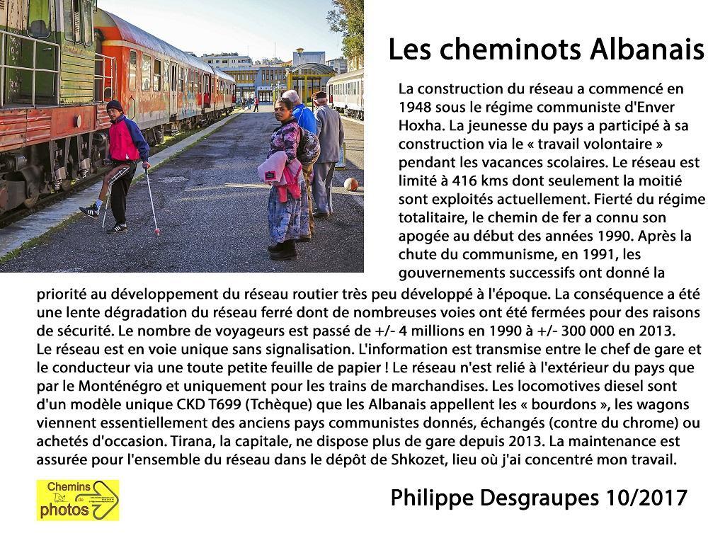 Desgraupes cheminots albanais