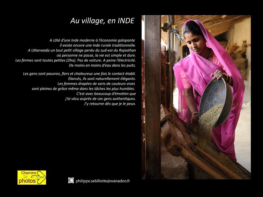 Sebillotte au villageen inde